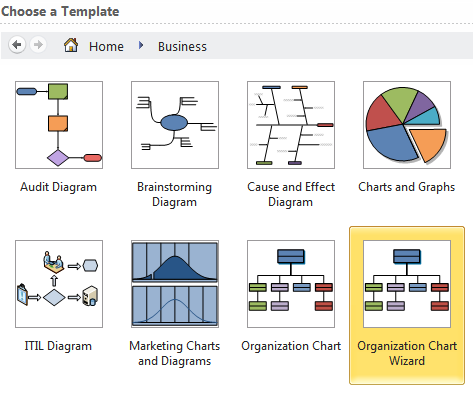 Display hierarchical data with visio and excel craig 39 s for Visio hierarchy template